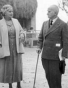 Einaudi con la moglie Ida