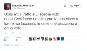 Maurizio Bianconi attacca su Twitter Ennio Doris di Mediolanum e le giovani leve di Forza Italia