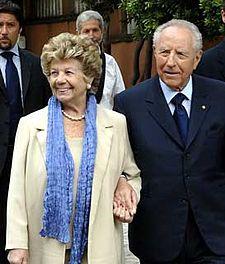Ciampi con la moglie Franca