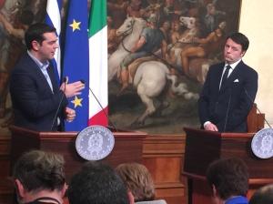 Alexis Tsipras incontra Matteo Renzi