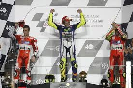 Il podio tutto italiano del gran premio del Qatar. Non succedeva da Motegi 2006.