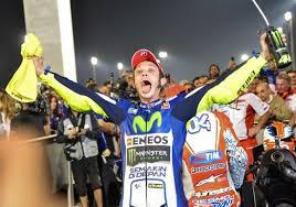 La gioia di Valentino Rossi al termine della gara
