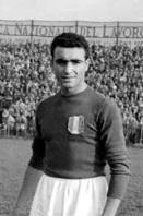 Rubens Fadini con la maglia del Torino. Morì nell'incidente aereo a Superga il 4 maggio del 1949