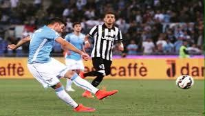Il momento del tiro di Djordjevic contro la Juventus