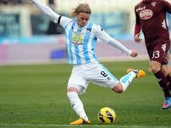 Bjarnason con la maglia del Pescara