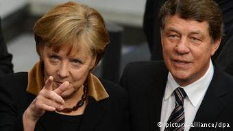 Angela Merkel e Otto Rehagel.