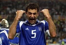 La gioia di Traianos Dellas dopo il gol